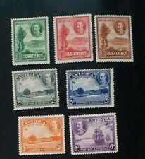 ANTIGUA 1932 0.5d to 6d SG 81 - 87 Sc 67 - 73 MLH/MH