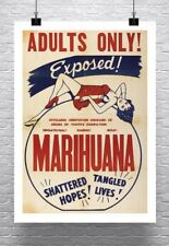 ADULTS ONLY! MARIJUANA Vintage Movie Poster Rolled Canvas Giclee Print 24x33 in.