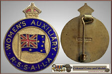 """""""Women's Auxiliary R.S.S.A.I.L.A."""" Enamelled Badge by 'Myers & Co."""".....  EF"""
