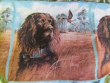 Boykin Spaniel Dove Hunting Dog Tapestry Fabric material Pillow top 2 Panels