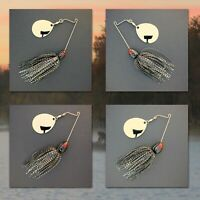 Bassdozer spinnerbaits SHORT ARM THUMPER BLACK HOLOGRAM spinnerbait spinner bait