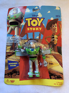 1995 Toy Story Buzz Lightyear Bendable Action Figure Sealed Card New Thinkway