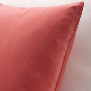 """IKEA SANELA VELVETEEN CUSHION COVER CORAL COTTON VELVET 26 X 26"""" NEW FREESH"""