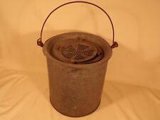 Vintage Ohio Metal Minnow Bucket Cabin Cottage Lake House Decor Fishing
