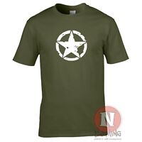 US Army star WW2 military armour T-shirt World of war Tanks RC airsoft heng long