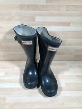 Navy Hunter Wellies Size 10 Infant Kids Walking Boots