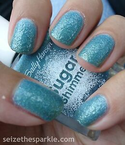 NEW! Sally Hansen Sugar Shimmer Nail Polish in WORK OF TART ~ Teal Shimmer