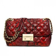 Michael Kors Bag 30H5GSLL3N MK Sloan Large Chain Shoulder Embossed Leather