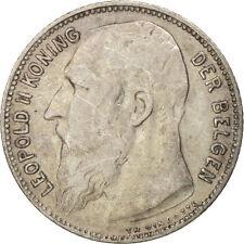 [#411059] Belgium, Franc, 1909, VF(20-25), Silver, KM:57.1