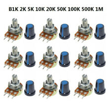 WTH148 Potentiometer Kit Assorted B1K 2K 5K 10K 20K 50K 100K 500K 1M 15mm 3-Pin