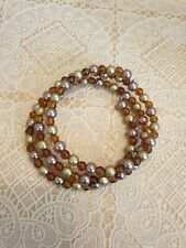 with brown small beads Fashion Jewellery Bracelet spiral style