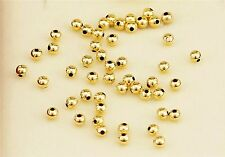 Pure Au750 18K Yellow Gold Beads /Perfect Craved Lucky DIY 2.5mm Beads Pendant