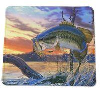 "Bass Fishing Beauty Country Fish COMPUTER MOUSE PAD 9 X 7"" USA Fisherman Lure"