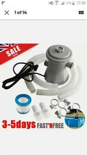 UK NEW Swimming Pool Filter Pump Water Cleaning System for Above Ground Pool