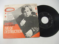 "Barry McGuire ‎– Eve Of Destruction - Disco Vinile 45 Giri 7"" Stampa ITALIA 1965"