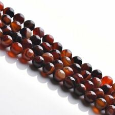 Wholesale 5-40PCS Gemtone Beads Natural Agate Carnelian Round Loose Stone Beads