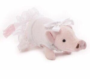 "PRISSY STUFFED PIG Formal Pig by GUND - 6""  Pop & Prissy NEW Bride #4054643 A35"