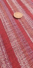 Japanese 100% Cotton Fabric FQ - Linen-Feel Red Stripes (Sevenberry)