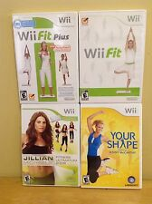 Nintendo Wii Fitness Bundle - Wii Fit, Plus, Your Shape & Jillian Michaels