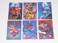 1996 Spider-Man PREMIUM INSERT CANVAS ETERNAL EVIL 6 Card Set! VENOM 2 SIGNED!