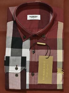 New Season NWT Men's BURBERRY Long Sleeve Shirt Size S to 2XL