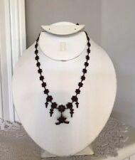 Vintage Red Garnet Choker/Necklace 1900s. Stunning! Unique!