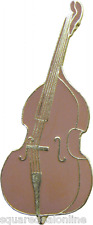 47089 Bass Fiddle ENAMEL PIN Badge Button Lapel Music Bluegrass Folk Jazz