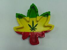 NEW REGGAE MARIJUANA LEAF POLY RESIN CIGARETTE ASHTRAY HEMP CANNABIS
