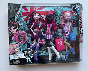 Monster High 3 Pack Ghoulebrities In Londoom - NIB - Rare