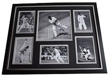 Geoff Geoffrey Boycott SIGNED Framed Photo Autograph Huge display Cricket AFTAL