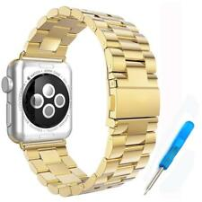 Series 1 2 3 4 42mm - #3 Golden Stainless Steel Wristband Strap for Apple iWatch