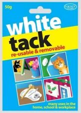 White Tack Blue Tac Re-usable & Removable White Adhesive Putty Strong 50g