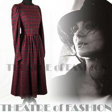Dress Pinafore Tartan Vintage Laura Ashley Victorian Edwardian 40s 50s Vamp
