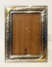 Vintage Sterling Silver Picture Photo Frame 10/1000 Hallmarked W/Gold Accents