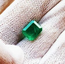 3.20 Ct Fine Natural Emerald Square Octagon Zambia UnTreated LooseGem Stone