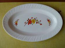 antiguo plato de cerámica ARCOPAL con decoración flor art popular, French