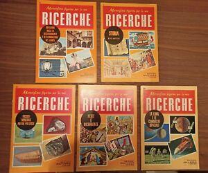 Lotto 5 libri Le Ricerche, edizione Salvadeo, originali anni 70-80