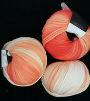 (9,90 €/100g):50 g TONDO,Bändchen, ProLana, Fb. 81 rot/apricot/beige/weiß  #3925