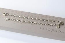 "Silpada NIB 12"" Extra Long Necklace Sterling Silver Bracelet Extender N3171"