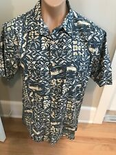 No Tag Mens L Fishermans Hawaiian Everyday Shirt