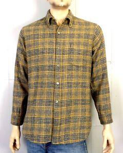 Vintage 50s 60s Pendleton Selten Hundezahn 100% Wolle Knopf Rücken Kragen Hemd L