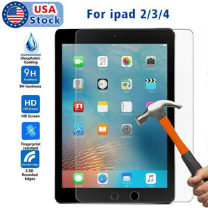 Premium Tempered Glass Film Screen Protector Cover For Apple iPad 2,3,4