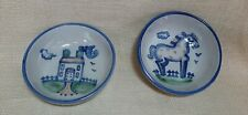 2 Cereal Soup Bowl Horse House M A Hadley