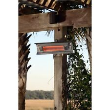 Fire Sense Stainless Steel Wall Mounted Infrared Patio Heater, 7.5L x 22W x 4