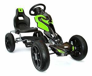 Kinderfahrzeug Tretfahrzeug Pedal Go-Kart Tretauto Card Gokart EVA-Reifen grün