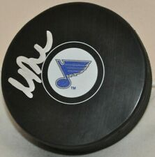 Marc Bergevin 1996-2002 St. Louis Blues Signed Autographed NHL Hockey Puck COA