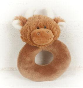 Jomanda Highland Coo Plush Baby Ring Rattle