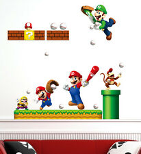 Super Mario Removable Kids Wall Art Decal Vinyl Baby Nursery Sticker Decor Mural