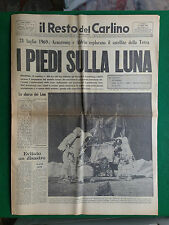 IL RESTO DEL CARLINO 21/7/1969 , I PIEDI SULLA LUNA , ARMSTRONG E ALDRIN