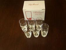 BORMIOLI MICHELANGELO CRYSTAL LIQUEUR SHOT GLASSES X 6
